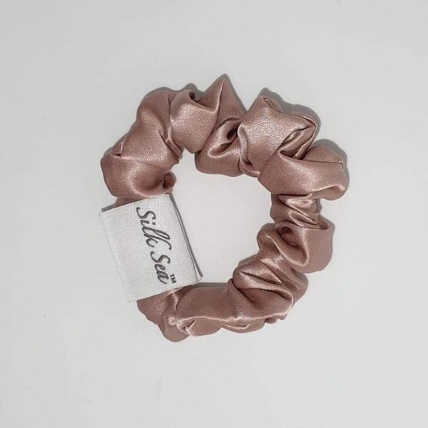 Silk Sea Luxury 100% mulberry silk scrunchie in blush