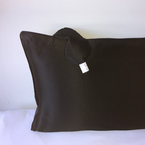 100% mulberry silk pillowcase in black