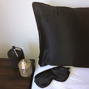 Dream Pack - Silk Sea 100% Mulberry Silk Pillowcase Black