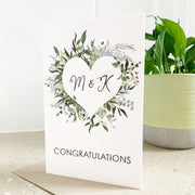 Monogram Congratulations Card