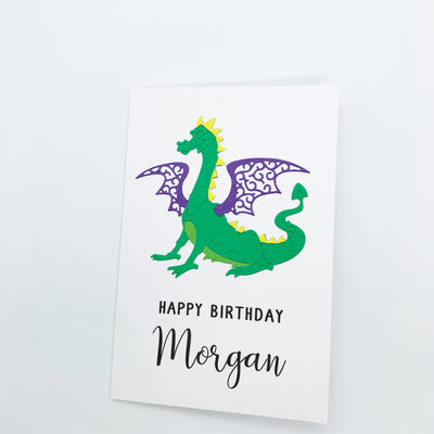 Personalised Dragon Birthday Card