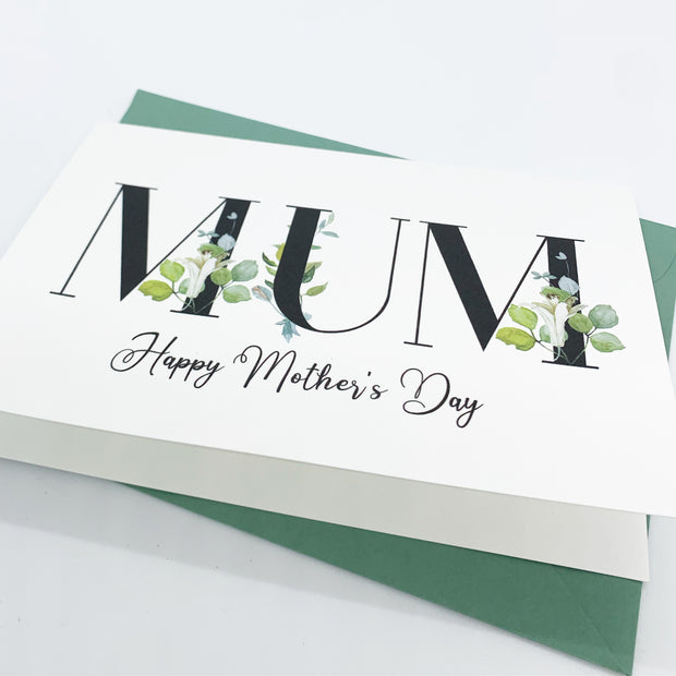 MUM happy mothers day card