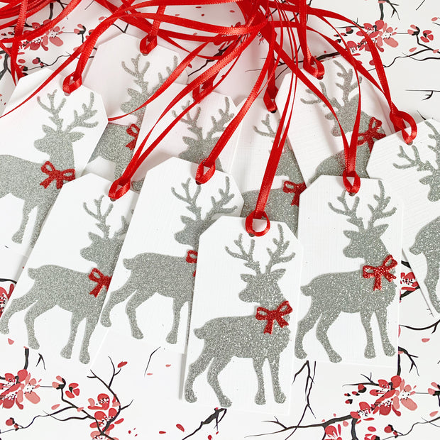 Reindeer Christmas Gift Tags 10 Pack