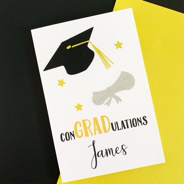 Graduation Card Personalised For Him