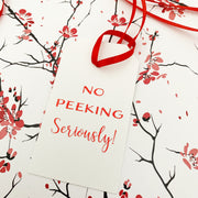Funny Red Foiled Gift Tags