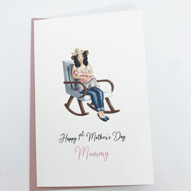 Personalised 1st Mothers Day Card from Baby Daughter