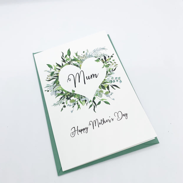 Greenery Heart Mother's Day Card