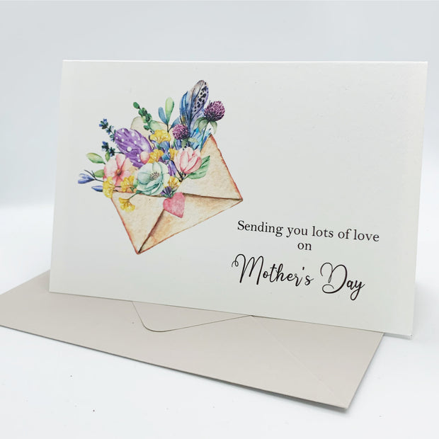 sending you lots of love on mothers day card www.thepaperangel.com.au