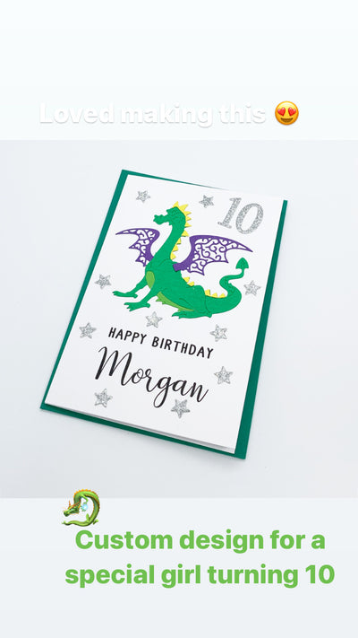 Dragon Milestone Birthday Card