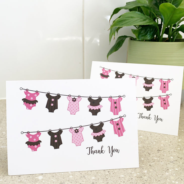 Baby Girl Thank You Cards