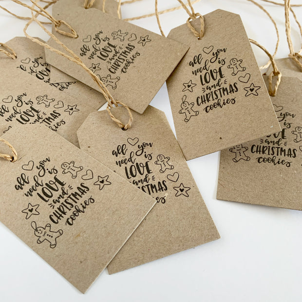 Gift Tags - All You Need is Love and Christmas Cookies