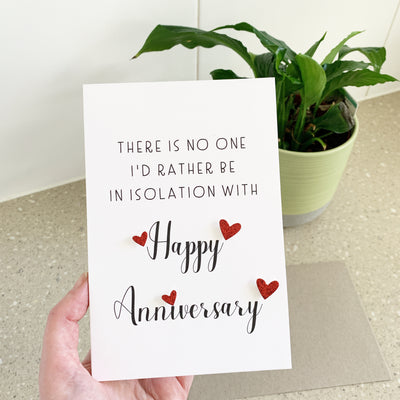 Isolation Anniversary Card