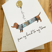 Dachshund Head to Toes I Love You Card