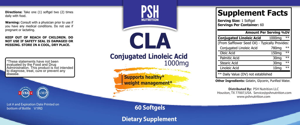 CLA Conjugated Linoleic ACID Softgel 1000mg