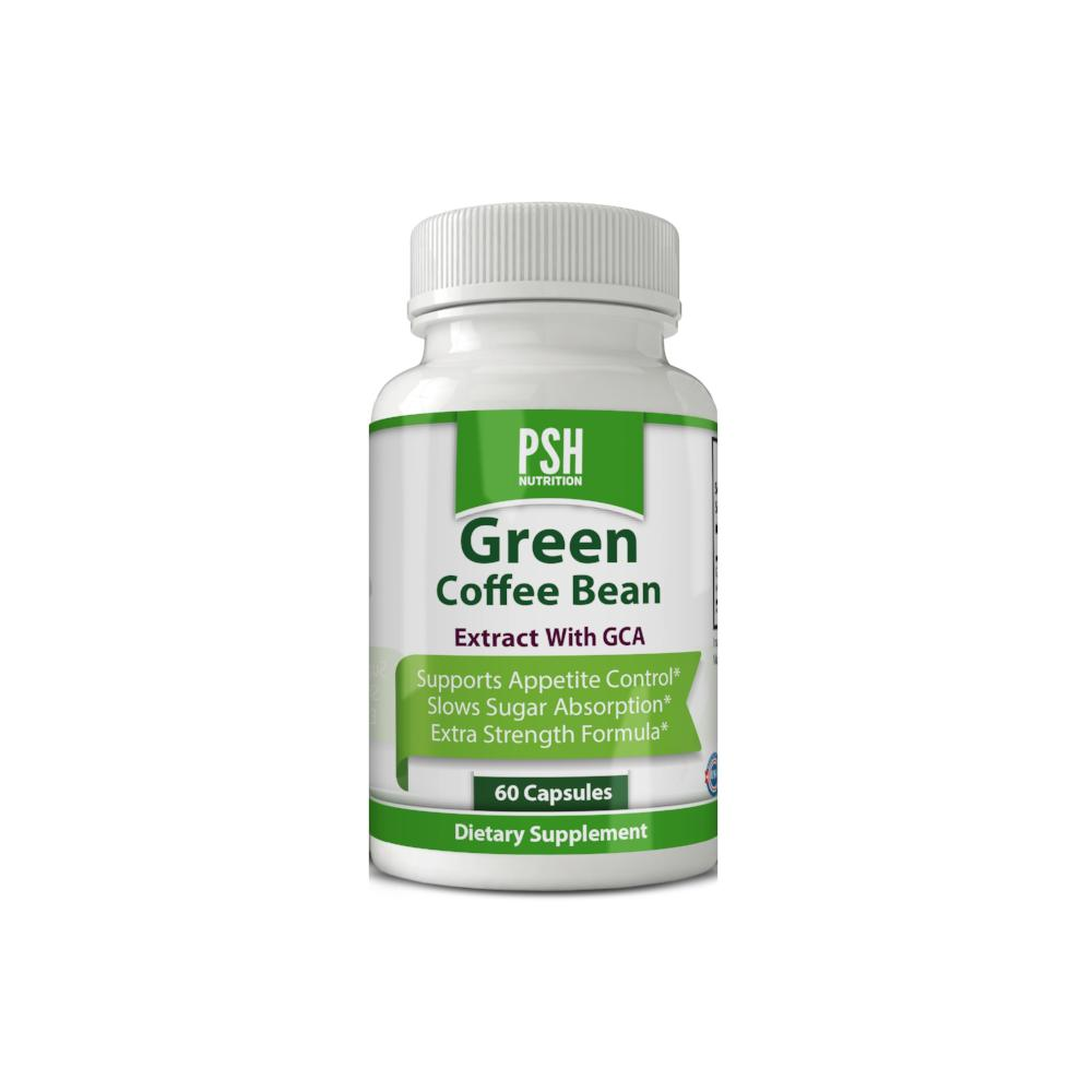 Psh 100 Pure Green Coffee Bean Extract 60 Vegetarian Capsules