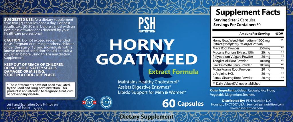Horny Goat Weed Extract 600 mg Capsule