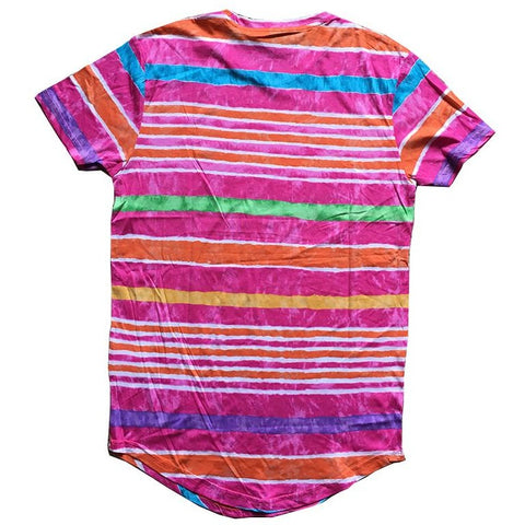 Tie Dyeing Striped Tee