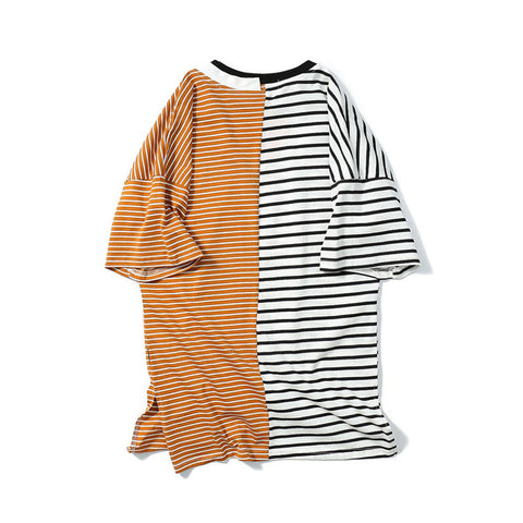 Split Stripe Tee