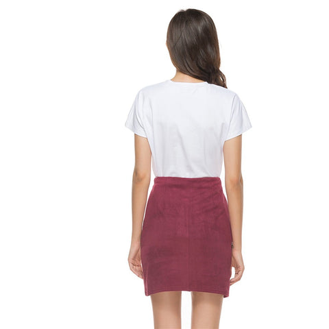 Suede Women Skirt