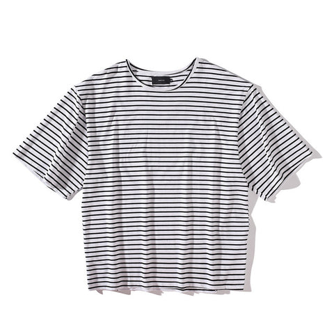 White Striped Cotton T-shirt