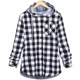 Mens Plaid Hooded Flannel