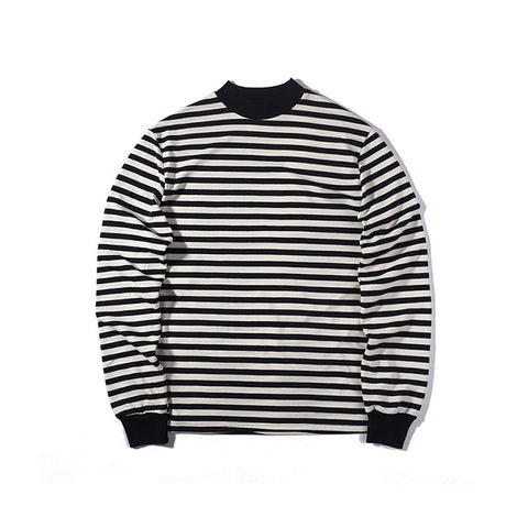 Striped foundation Europe street style T-shirt