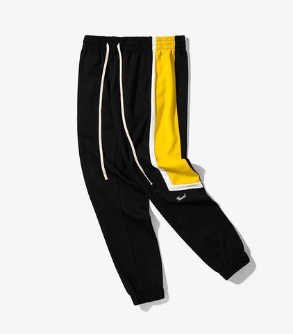 Split Side Stripe Elastic Waist  joggers
