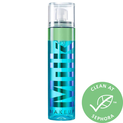 Makeup setting spray with a clean at Sephora badge