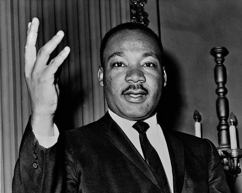 A picture of Martin J Luther King Jr., an advocate of self-care and health for Black communities