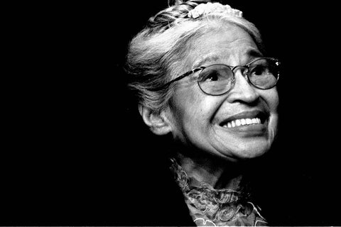 Rosa Parks, who used to practice yoga for her self-care routine