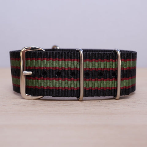 Black Red Olive Stripe N.A.T.O