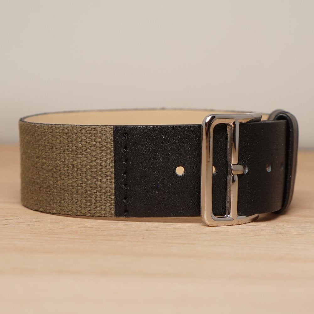 Combination Olive Black Leather