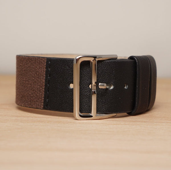 Combination Brown Black Leather