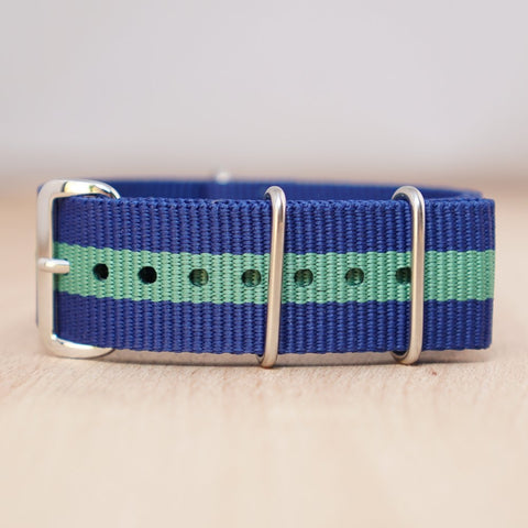 Blue Green Stripe Nylon