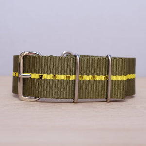 Olive Yellow Stripe Nylon