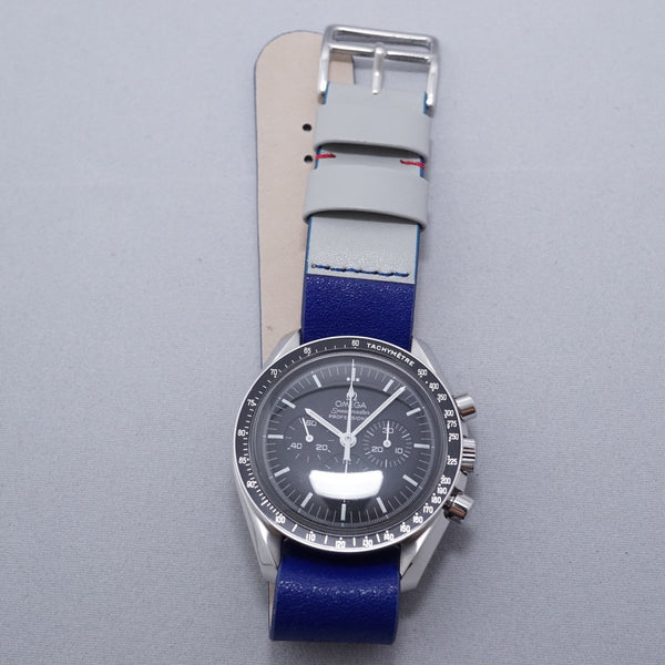 Combination Blue Grey Leather