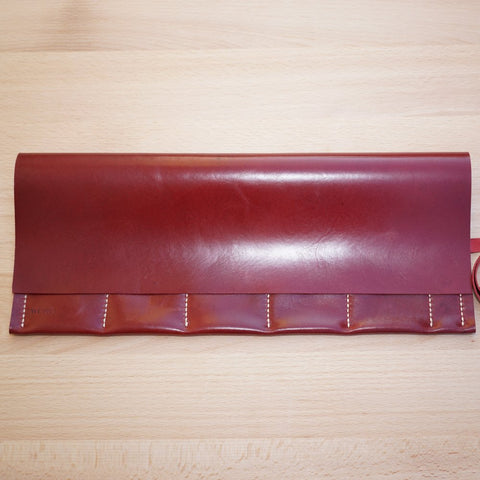 Oxblood Leather Watch Roll