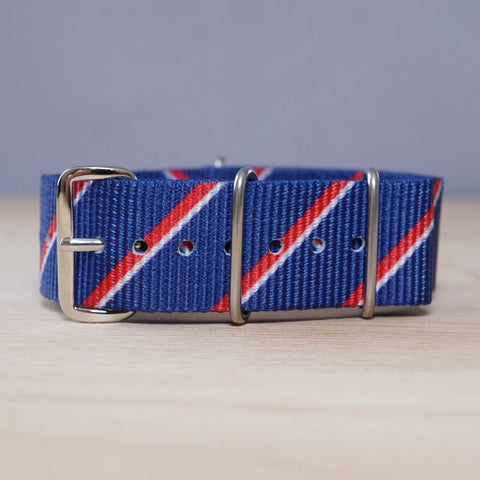 Blue Diagonal Stripe Nylon