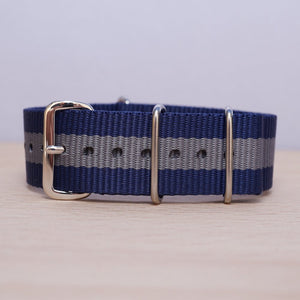 Blue Grey Stripe Nylon
