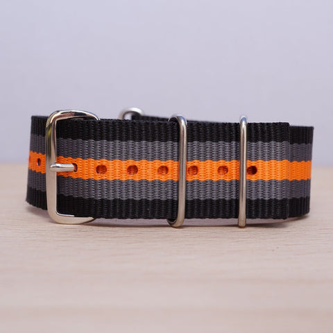 Black Grey Orange Stripe N.A.T.O