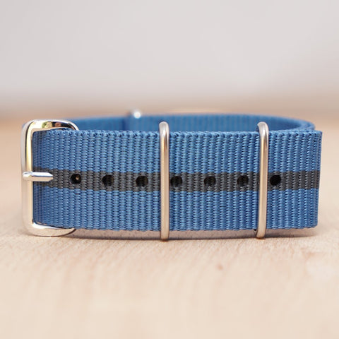 Blue Black Stripe Nylon