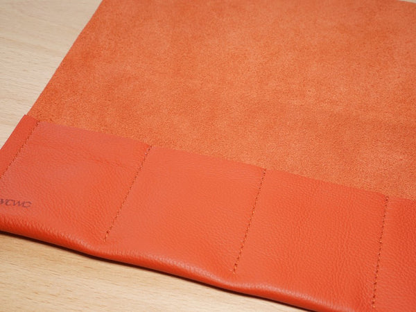 Blood Orange Leather Watch Roll