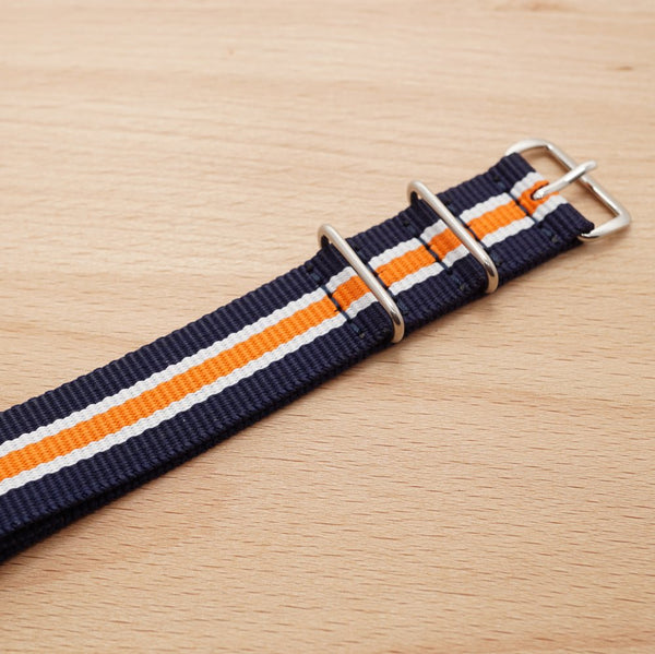 Navy Blue Orange Stripe N.A.T.O