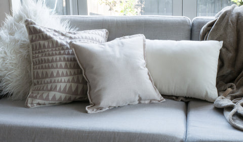 Different shape and sized cushions