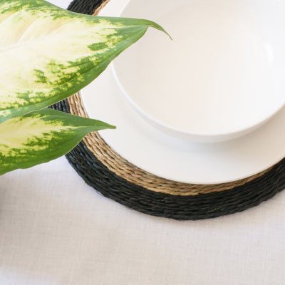Black Trimmed Placemat Styled