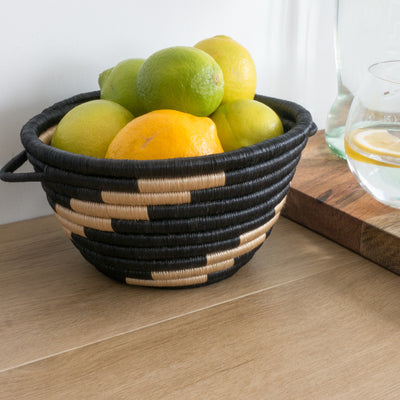 Twist Woven Pot Black and Tea with Lemons and Limes
