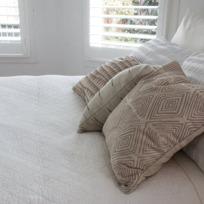 Diamond and Zigzag cushions covers styled