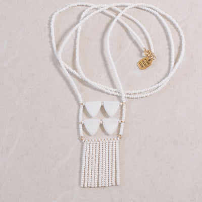 White handmade necklace by Maasai