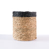 Wine Bottle Holder handwoven with black trim