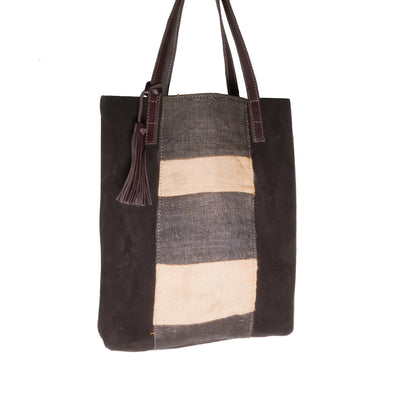 Kuba Cloth Tote Stripe Design